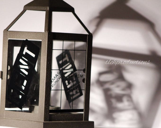 Broadway Musical Decorated Glass and Metal Lantern
