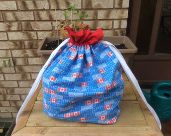 Large Knit or Crochet Project bags - Canada print