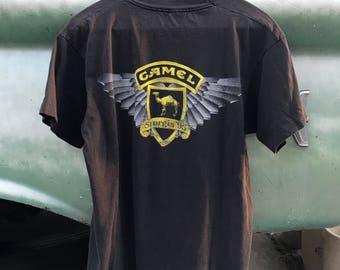Vintage Harley Esque Biker Moto Camel Sturgis Tee Shirt M