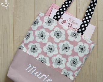 Tote bag girl tote bag personalized, library bag, bag, dance, library tote, ballet bag, custom bag
