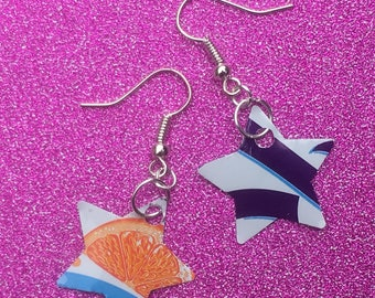 Upcycled recycled tin can Rio earrings