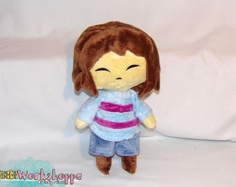 UNDERTALE inspired: Frisk 31cm minky handcrafted plush