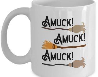 Halloween Hocus Pocus Amuck Funny Gift Mug Coffee Cup Amok Sanderson Sisters