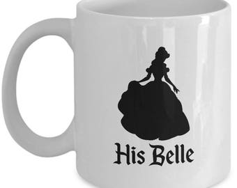 Disney His Belle Gift Mug Her Beast Beauty and the Beast Coffee Cup Couple Love Gifts
