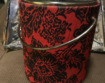 Mid century modern West bend black and red ice bucket