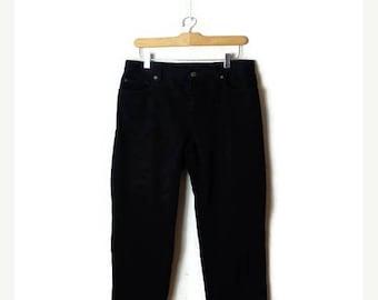 ON SALE Ralph Lauren  Black  Cotton Denim Pants from 90's/W30*