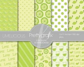 80% OFF SALE Lime citrus digital paper, commercial use, scrapbook papers, background - PS504