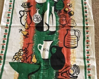70's Lamont Irish Linen Tea Towel