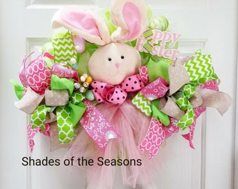 Easter Wreath, Easter Bunny, Easter Bunny Wreath, Spring Wreath, Easter Mesh Wreath, Bunny Wreath, Easter, Spring Wreath, Easter Door Wreath