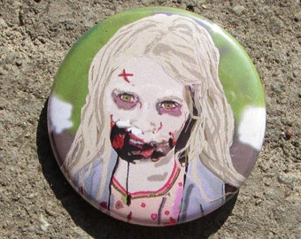 Summer from The Walking Dead Digital Artwork Portrait 38mm Badge