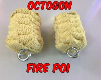 Octogon Fire Poi - Available in Small, Medium, or Large