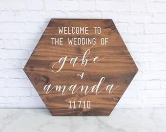 Wedding Welcome Sign, Wedding Signs, Wood Wedding Sign, Wooden Wedding Signs, Rustic Wood Wedding Sign