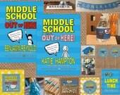 MIDDLE SCHOOL Graduation Invitation // Coordinating Items + Full Service Printing