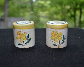 Vintage Pottery Salt & Pepper Shakers- FREE SHIPPING USA