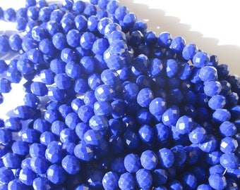 16 blue denim (102) 10mm faceted glass beads