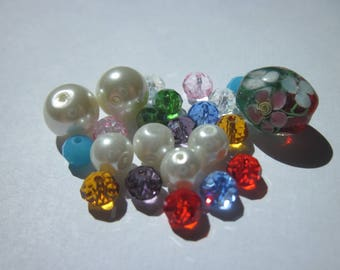 23 (PV58-8) multi-colored glass beads