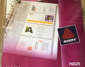 Avery Mini Binder Business Card Inserts