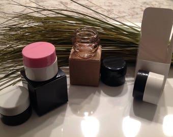White Lip Balm Jar Box - 10 Pack