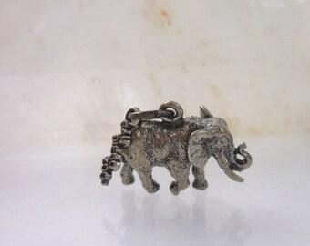Summer Sale Elephant Pendant  Sterling Silver