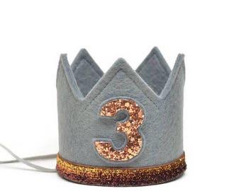 Third Birthday Boy Crown || Boy Birthday Crown || Boy Half Birthday ||First Birthday Outfit Boy || Boy Birthday Decoration