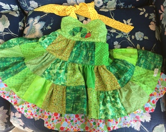 The Very Hungry Caterpillar baby twirl dress 12-24m 1-2yr (5 available, handmade boutique patchwork dresses)