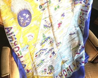 Vintage California Silk Scarf