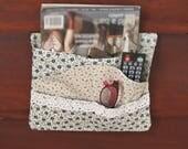 Blue Bed Pocket for Bedside or Dorm Storage, Bed Caddy, Remote Holder, Nightstand Organizer, Bedroom Organization, BP50