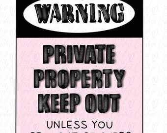 Warning Sign printable