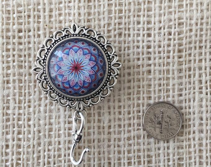 Knitting Pin - Magnetic Knitting Pin for Portuguese Knitting - Blue Kaleidoscope