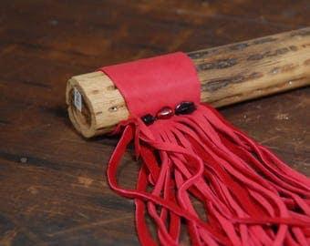 Tribal Rain Stick, Red fringe