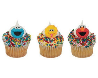 Sesame Street 12 pc SUGARSOFT Edible Printed Cake / Cupcake Topper Decorations Place Elmo Big Bird Cookie Monster