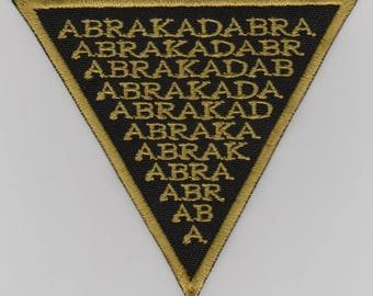 Abracadabra embroidered patch Abraxas cabalistic magic occult esoteric charm amulet