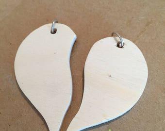 Great wooden heart keychain