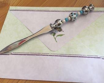Colorful fantasy silver letter opener