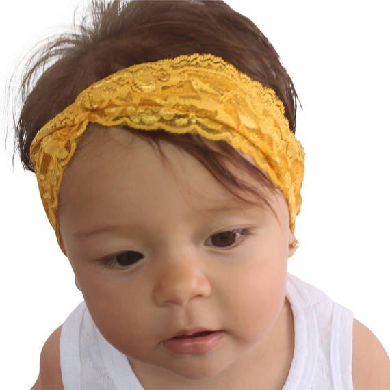 Baby First Headband, 1st Birthday, Mustard Headband, Soft Headband, Very soft Headband, Adult Turban Headband, Twisted Headband