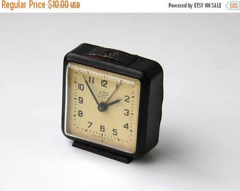 ON SALE Vintage Mechanical Alarm Clock / Made in CCCP