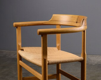 Rare Hans Wegner Armchair PP62 Mid Century Danish Modern Oak