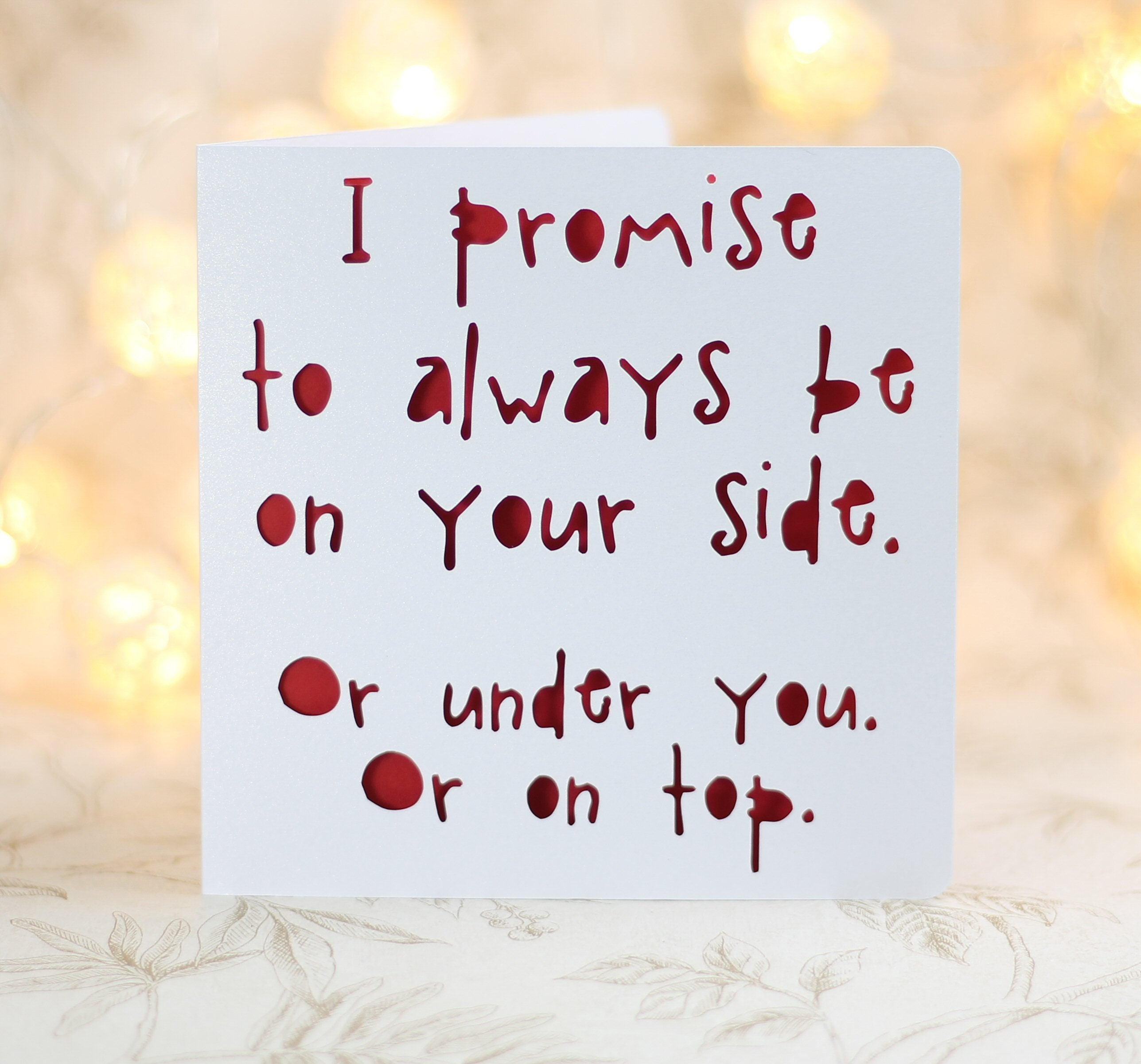 I promise to be at your side funny birthday funny love