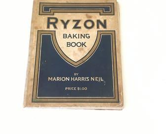 Ryzon Baking Book / 1917 / vintage cookbook