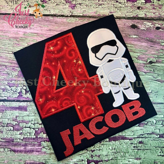 Storm Trooper - Stormtrooper - Star Wars Inspired - Kids Embroidered Shirt - Force Friday Shirt - Star Wars Birthday Shirt