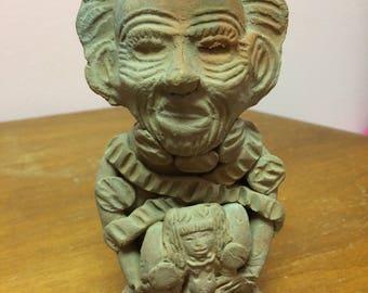 Vintage clay sculpture. Mexico
