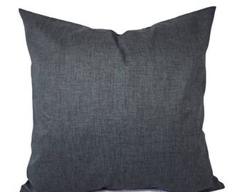 15% OFF SALE Two Dark Grey Pillow Covers - Grey Throw Pillow Covers - Decorative Pillow - Grey Pillow 16 inch Pillow - 18 inch Pillow - Soli