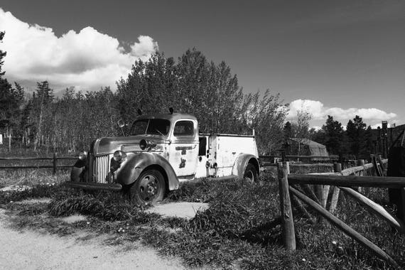 The Truck Black and White Fine Art Photography Print