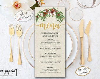 holiday menu templates free - Paso.evolist.co