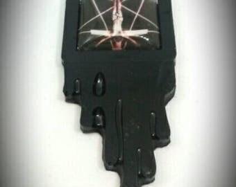 Inverted Cross Pentagram Necklace Occult Satan