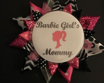 pretty in pink birthday buttons