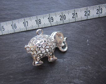 elephant 3D silver for jewelry making pendant