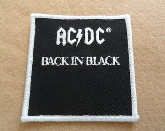 AC/DC Back in Black   Patch - FREE Shipping