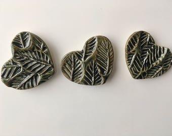 Ceramic Hearts Magnet Set (3 piece)