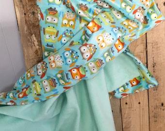 Cute Owls minky blanket